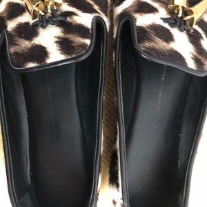 Giuseppe Zanotti Shoes - Giuseppe Zanotti Brown Leopard Smoking Slipper